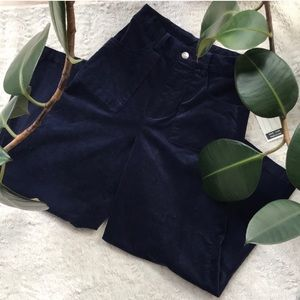 NWT Corduroy velvet wide leg high rise casual pant